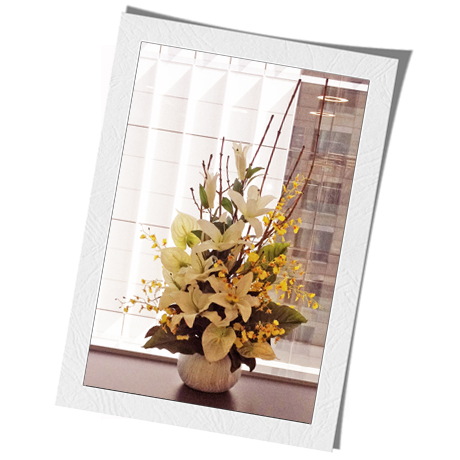 Artificial Silk Flower Rental